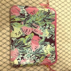Lilly Pulitzer pink green laptop case